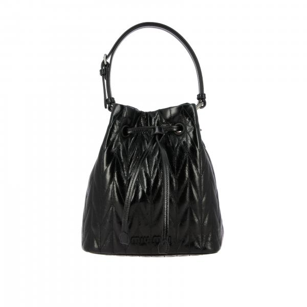 Miu Miu bucket bag in quilted leather