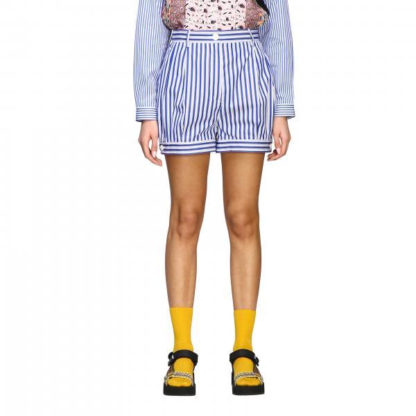 Prada Shorts aus gestreiftem Popeline