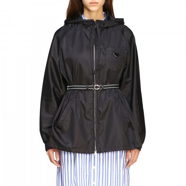 Куртка нейлоновая с капюшоном  Женское Prada