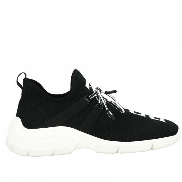 Sneakers Prada slip on a calza con scritta