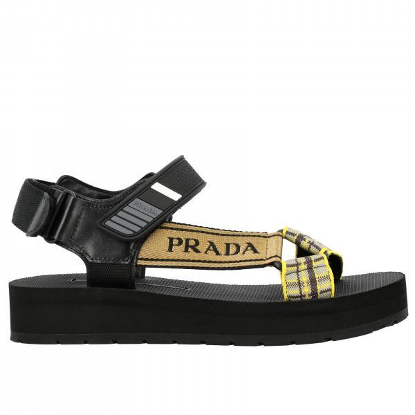 Sandalo Nomad Prada con multi fibbie a strappo