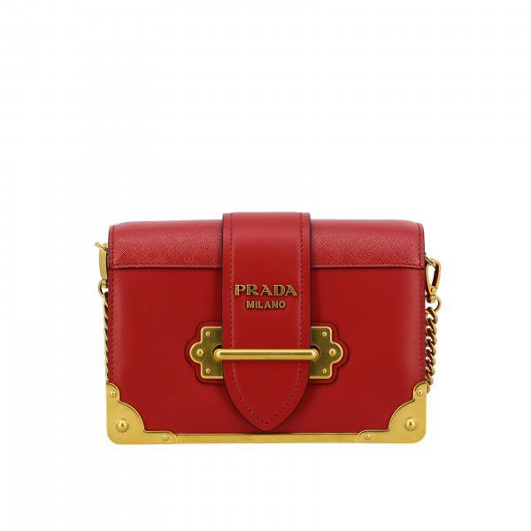 Mini bolso bolso cahier prada de cuero con logo Prada - Giglio.com