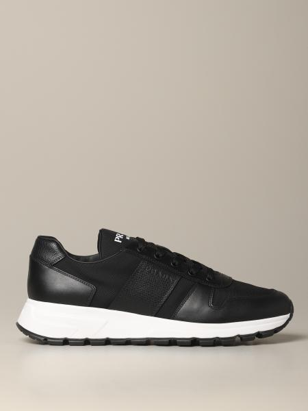 Prada Prax 01 sneakers in mesh and leather with logo