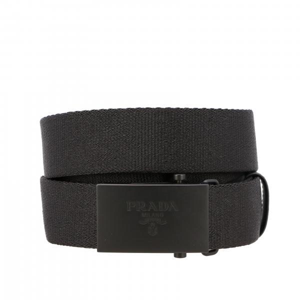 Prada belt with ribbon and metal plate