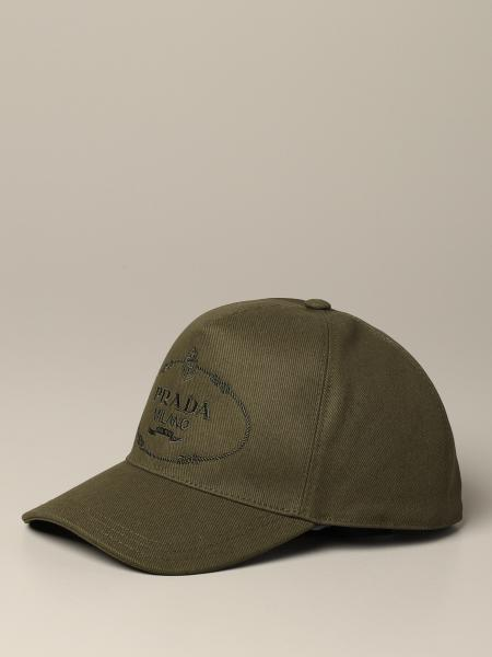 Prada hat with logo