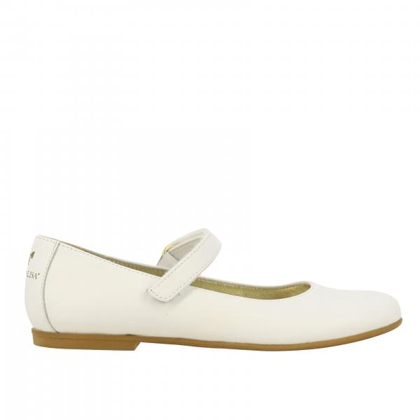 Monnalisa ballet flat in leather with strap