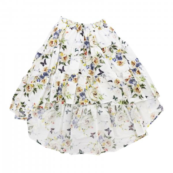Monnalisa skirt in cotton with floral pattern
