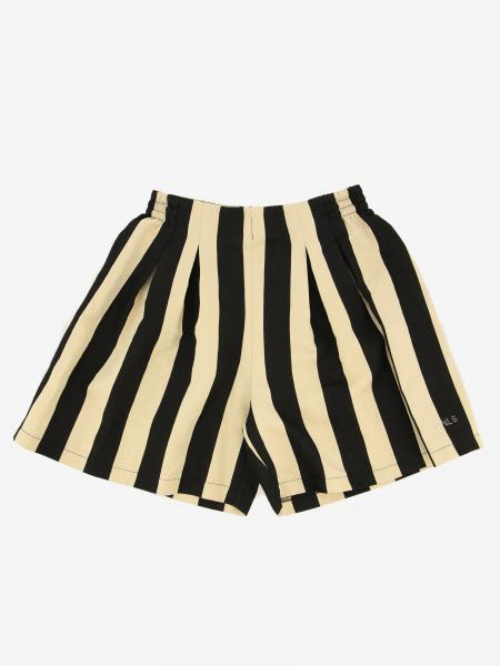 Monnalisa shorts in cotton with two-tone bands