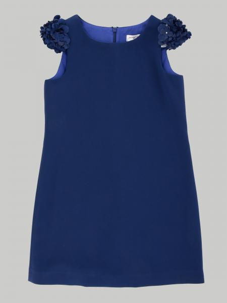 Monnalisa 花瓣形袖子连衣裙