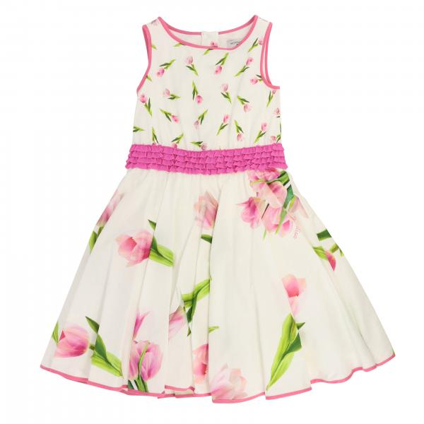 Monnalisa dress with floral pattern