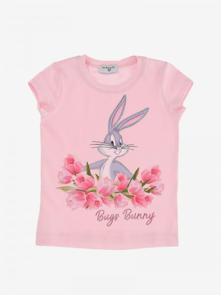 Monnalisa t-shirt with bugs bunny print and rhinestones