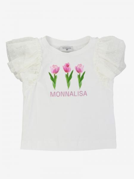 T-shirt Monnalisa con logo e fiori