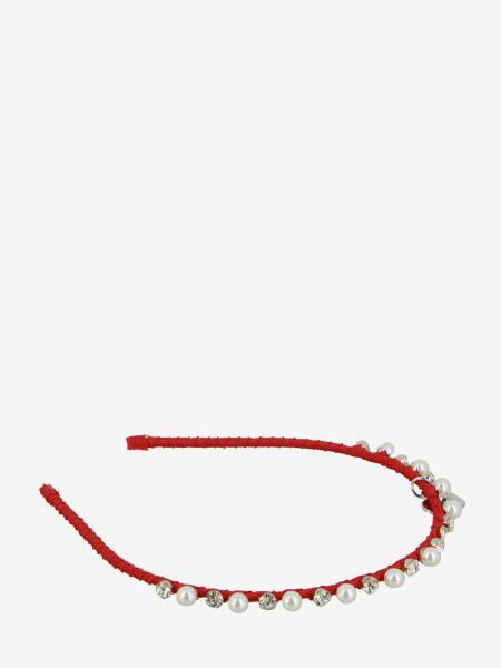 Cerchietto Monnalisa con perle e strass