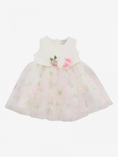 Monnalisa Bebé Kleid aus Tüll mit Rosen Muster