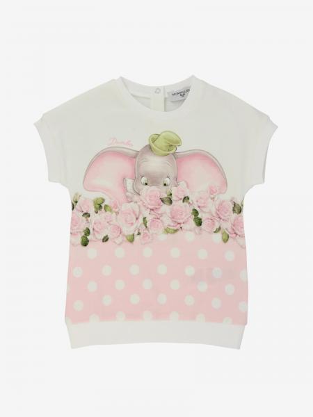 Abito Monnalisa Bebé in jersey con stampa Dumbo
