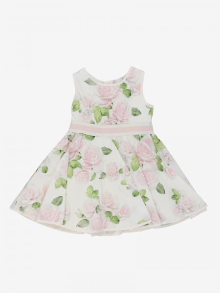 Robe Monnalisa Bebé en coton à motif floral