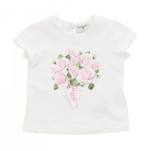 T-shirt Monnalisa Bebè à manches courtes et imprimé floral
