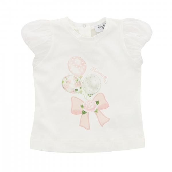 T-shirt à manches courtes Monnalisa Bebè avec imprimé ballons