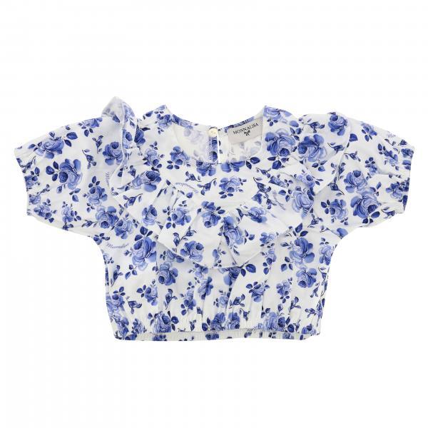 Top Monnalisa Bebè Cropped en coton à motif floral