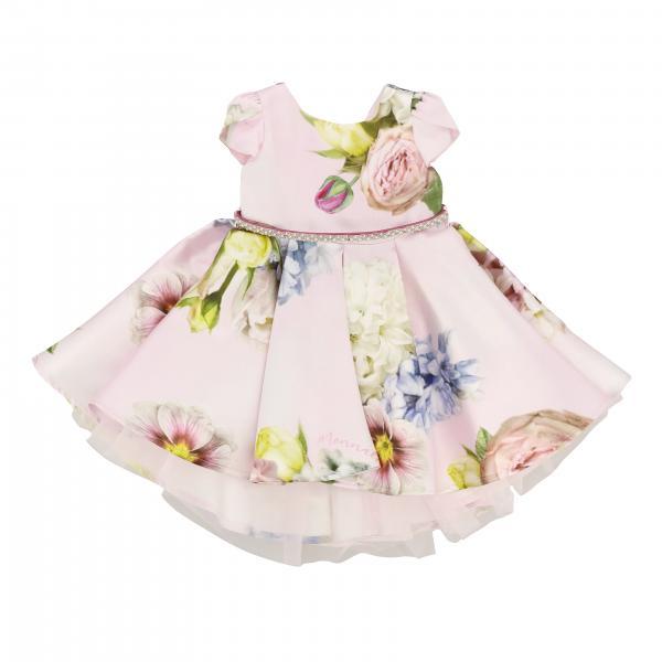 Robe Monnalisa Chic à motif floral avec ceinture