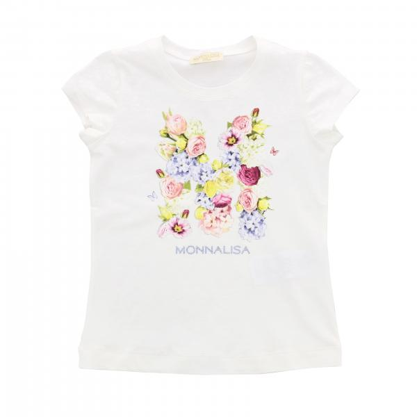 Monnalisa Chic short-sleeved T-shirt with floral print