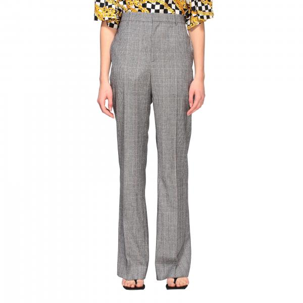 Balenciaga tailored wool check trousers