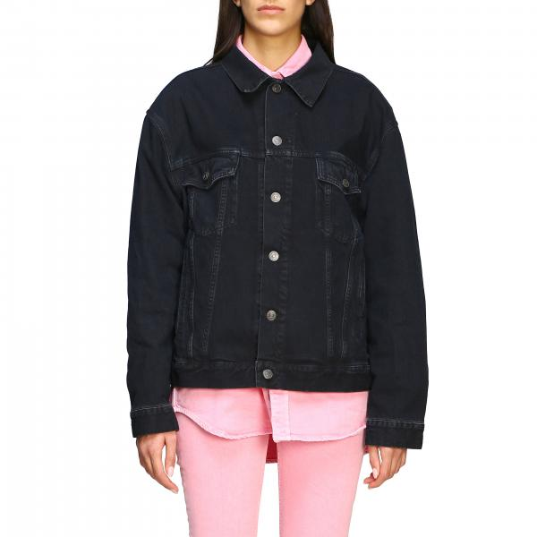 Giacca di jeans Balenciaga in denim con logo
