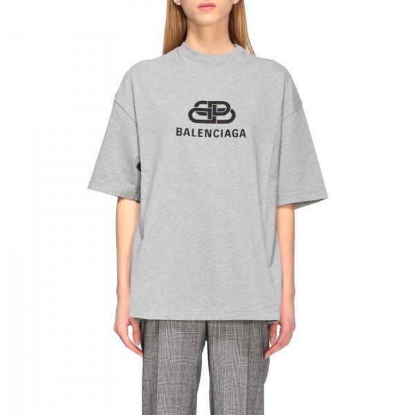 T-shirt Balenciaga over con logo BB