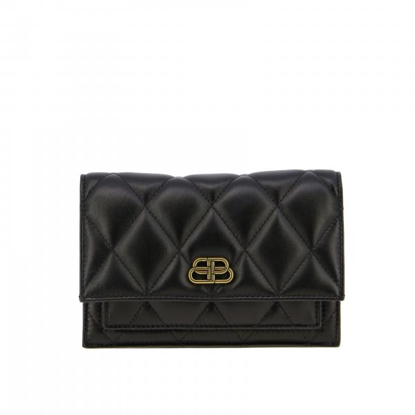 B Quilted Balenciaga bag in quilted nappa