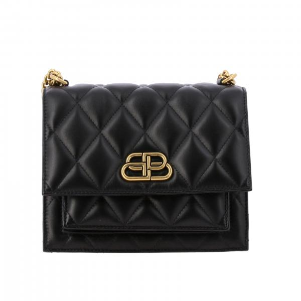 Borsa Sharp s with chain Balenciaga in nappa trapuntata