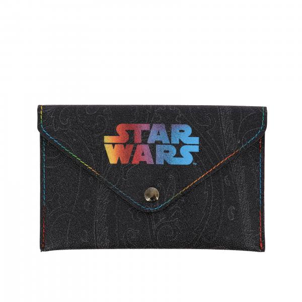 Etro X Star Wars clutch bag with Paisley print