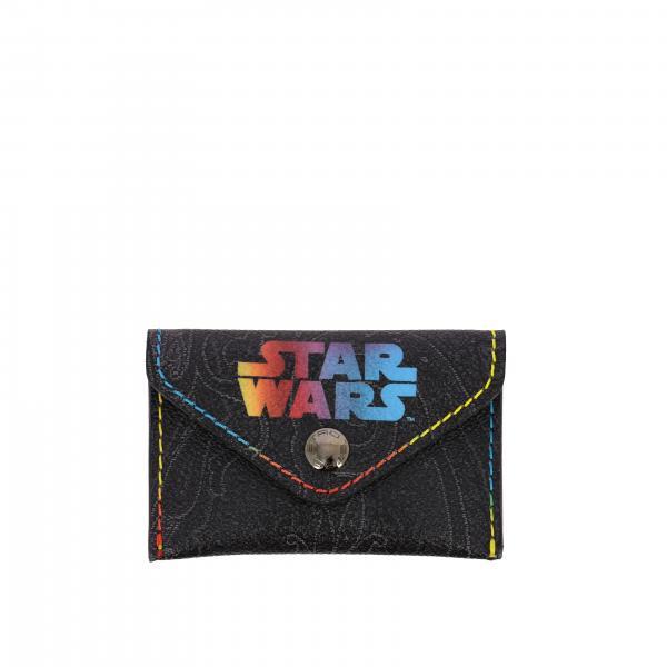 Porta carte di credito Etro X Star Wars con stampa Paisley