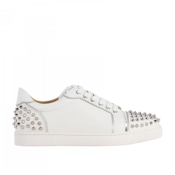 Sneakers Vieira spikes Christian Louboutin in pelle con borchie