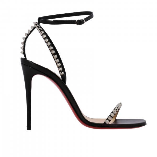 Sandalo So-me Christian Louboutin in pelle con borchie