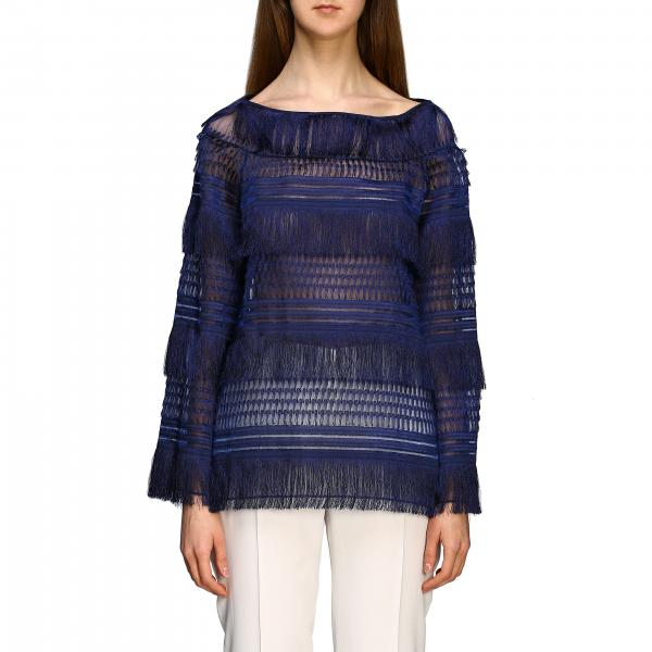 Alberta Ferretti sweater with fringes