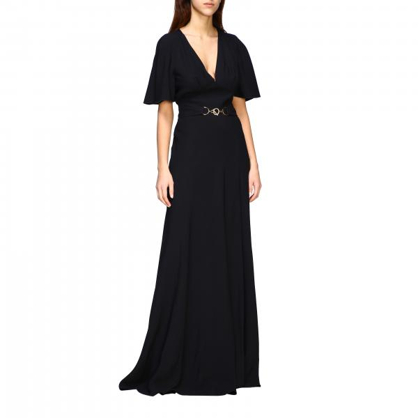 Alberta Ferretti long satin dress