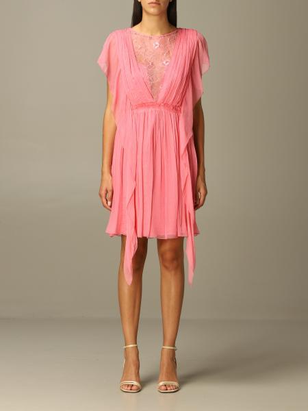 Alberta Ferretti dress in chiffon and lace