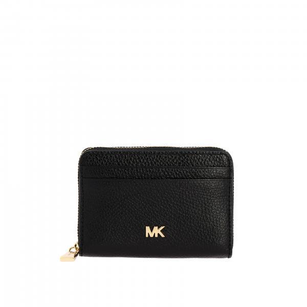 Кошелек Mott mini из кожи с металлическим логотипом Женское Michael Michael Kors