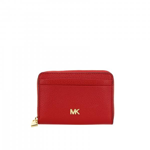 Mott mini Michael Michael Kors wallet in leather with metallic logo