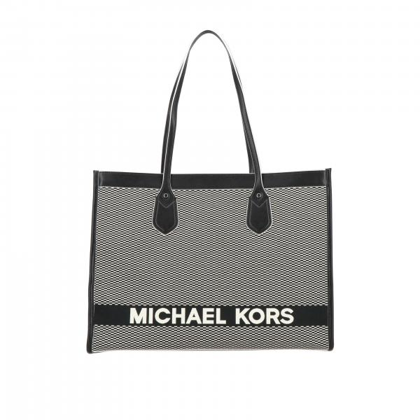 Michael Michael Kors large tote bag in two-tone cotton