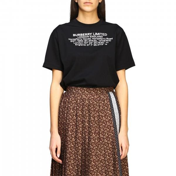 T-shirt Carrick Burberry con Coordinate Geografiche