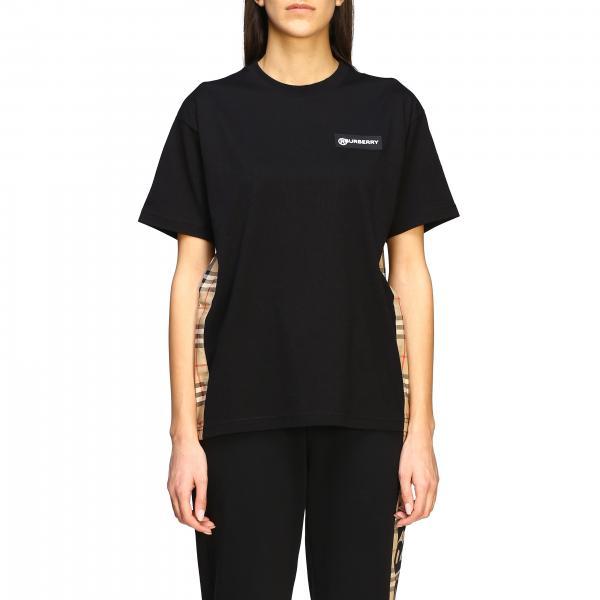 T-shirt Carrick Burberry con bande check