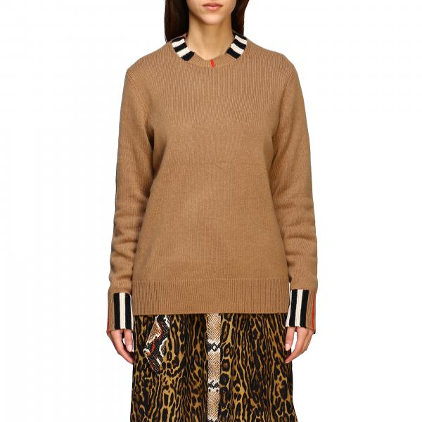 Eyre Burberry cashmere pullover with check detail