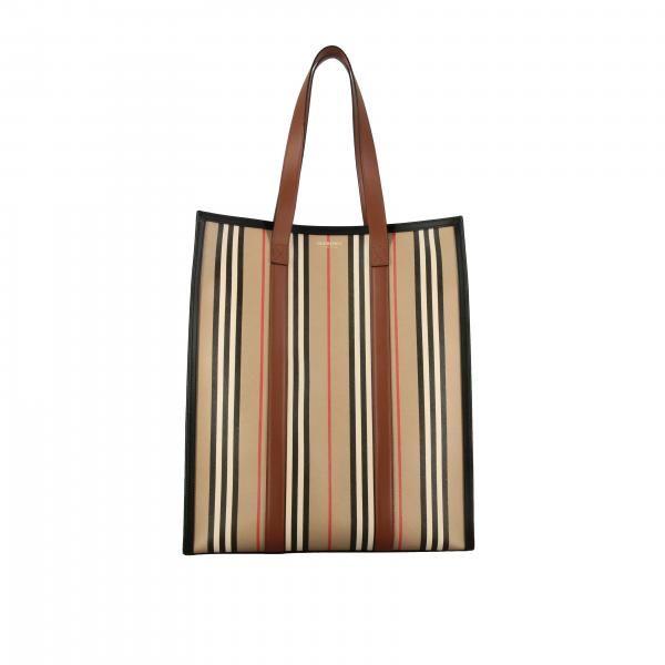 Burberry Book tote shopping bag in vintage striped leather