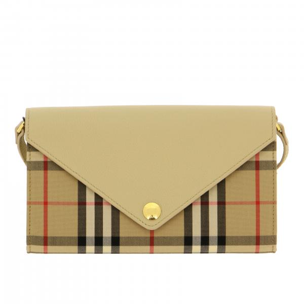 Burberry Hannah shoulder bag in leather and check canvas