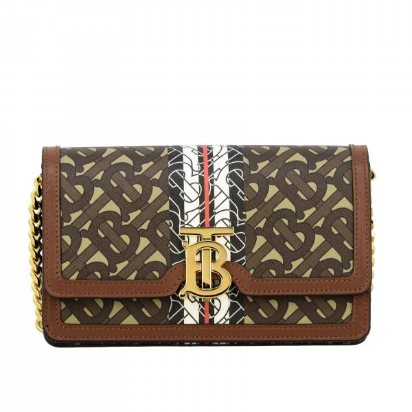 Carrie Burberry bag in saffiano leather with exclusive monogram print