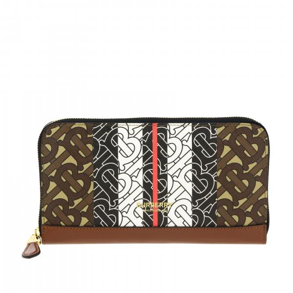 Elmore Burberry wallet in leather with exclusive monogram print