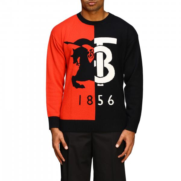 Burberry round neck cashmere sweater with 1856 logo