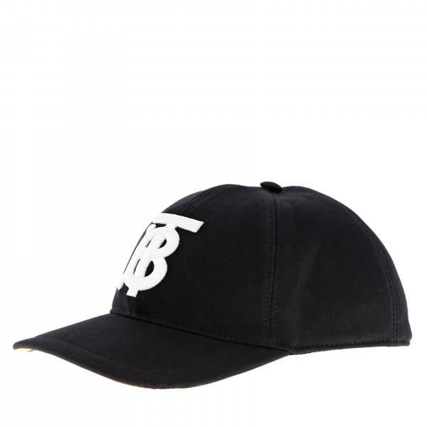 Cappello Burberry stile baseball in cotone con logo TB