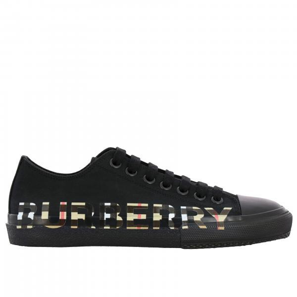 Sneakers Larkhall Burberry in tela con scritta check